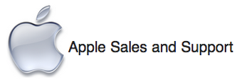 apple logo sales and support
